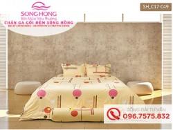 Chăn ga gối Sông Hồng dòng Classic vải Cotton C17-C49